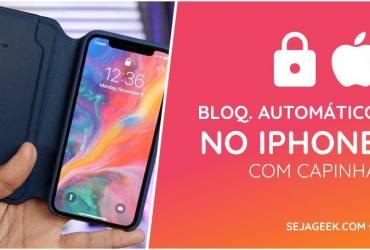 Bloqueio Automatico no iPhone com Capinha Seja Geek 1