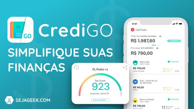 Organizar finanças com a CrediGO
