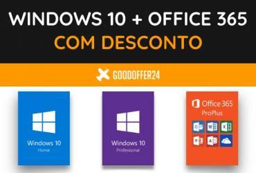 Windows 10 e Office 365 com desconto